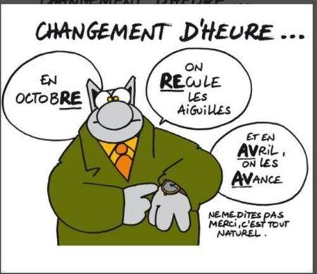 Le chat changement d'heures