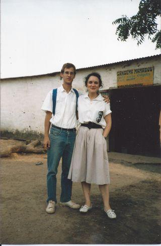 JF et Gilda Koudougou 1987 probablement